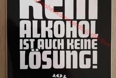 Aufkleber: Kein Alkohol