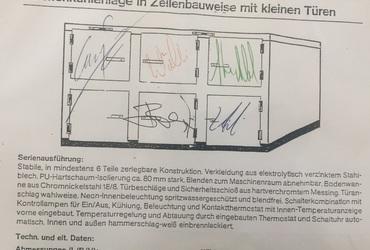 """Autogrammkarte """"Leichenkühlanlage"""""""