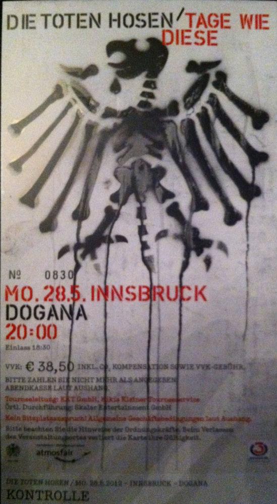 Ticket Innsbruck 2012