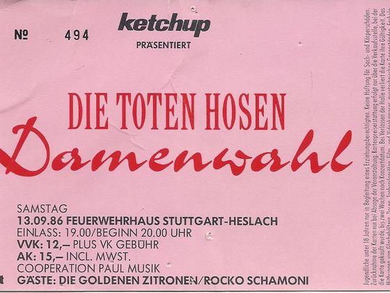 Damenwahl Stuttgart 13.09.1986