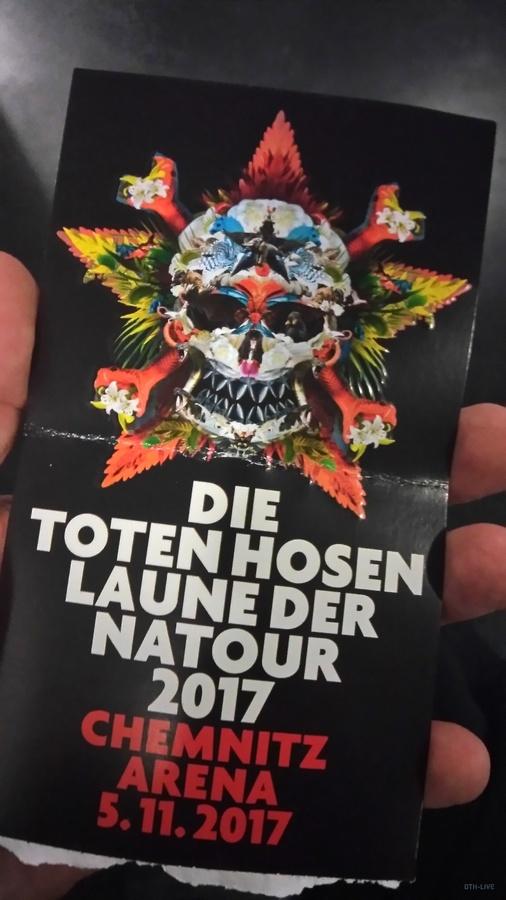 Ticket Chemnitz 5.11.2017