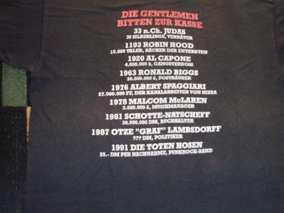 1991 Shirt Die Gentlemen bitten zur Kasse RS