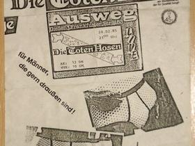 Flyer Ausweg/Gießen 24.02.1985