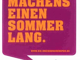 """Postkarte \""""Dreigroschenoper\"""""""