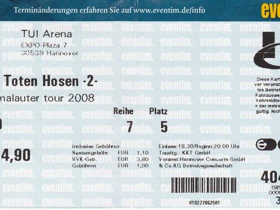 2008.12.19 Die Toten Hosen - Hannover, TUI Arena - machmalauter Tour 2008
