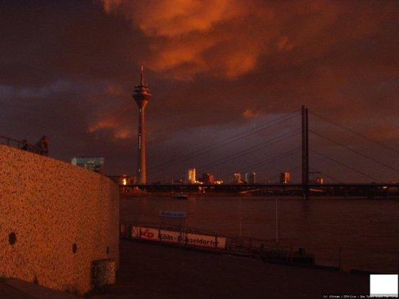 Rheintreppen Sonnenuntergang