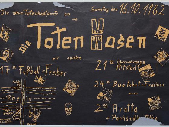 Poster für Konzert 16.10.82
