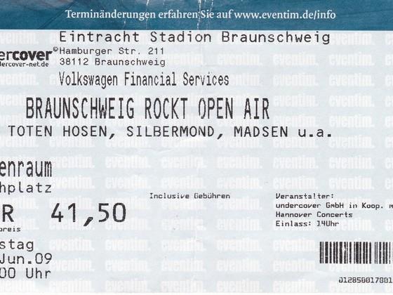 2009.06.13 Die Toten Hosen - Braunschweig, Eintracht Stadion - machmalauter Tour 2009